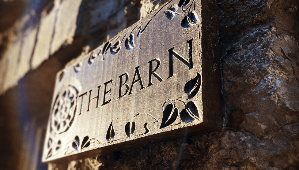 The Barn Cottage Sign 1