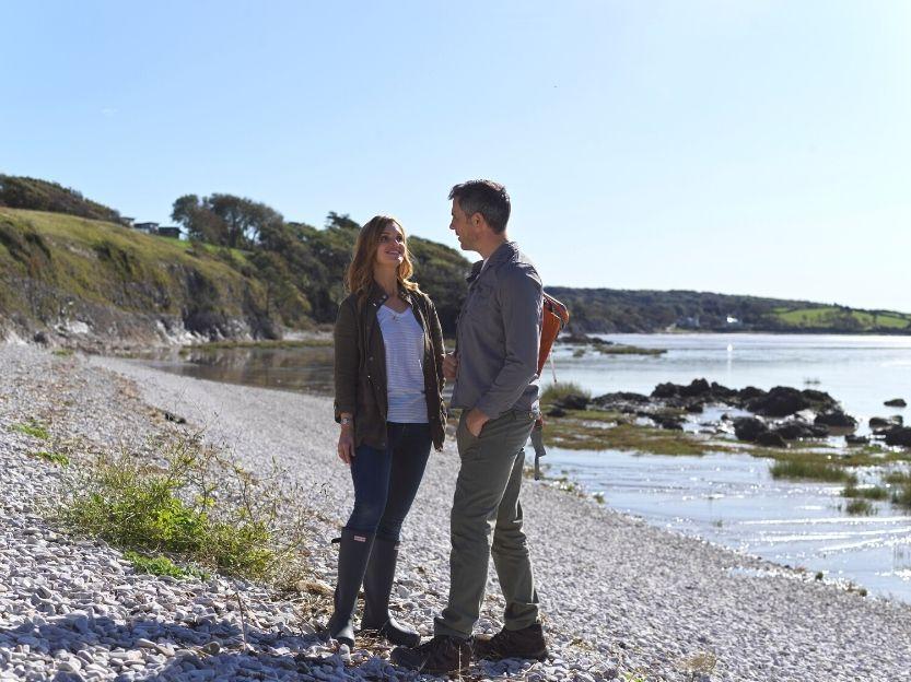 Couple on Stoney beach
